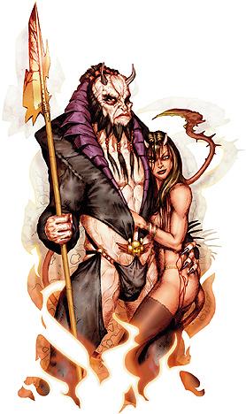 Belial e Fierna. Fonte: Book of Vile Darkness.