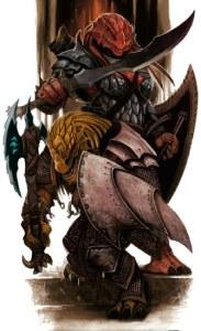 Dragonborns. Fonte: Livro do Jogador de D&D 4e