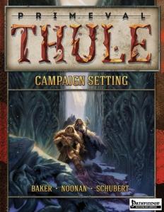 A capa do Primeval Thule usada na versão para Pathfinder. E 13ª Era. E D&D 4ª Edição. E possivelmente para a nova versão.